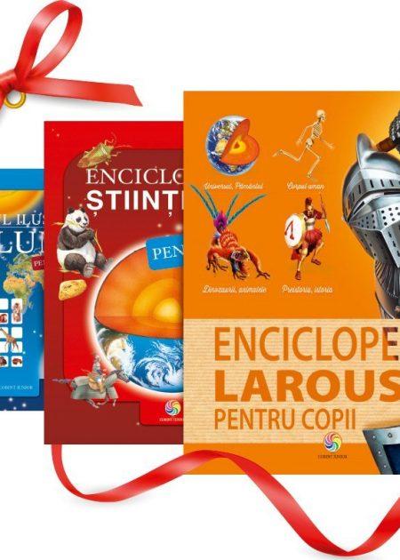 Pachet-Craciun-Atlase-Enciclopedia-Larousse-corint-junior